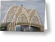 Sault Ste Marie International Bridge Arch Greeting Card by Danielle Allard