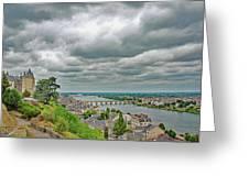 Saumur, Chateau, Loire, France Greeting Card