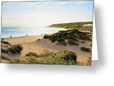 Saunton Beach Greeting Card
