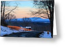 Sauratown View In Winter Greeting Card