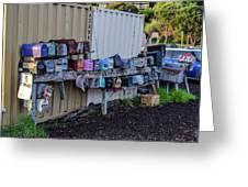 Sausalito Mailboxes Greeting Card