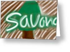 Savana Greeting Card
