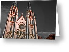 Savanna Georia Church Color Infrared 74 Greeting Card
