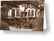 Savannah Arches In Sepia Greeting Card