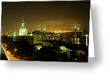Savannah At Night Greeting Card