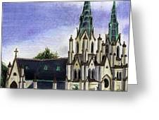 Savannah Cathedral Greeting Card