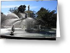 Savannah Fountain Greeting Card