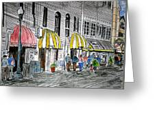 Savannah Georgia River Street 2 Painting Art Greeting Card