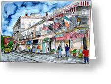 Savannah Georgia River Street Greeting Card