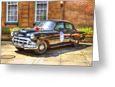 Savannah Police Car 1953 Chevrolet  Greeting Card