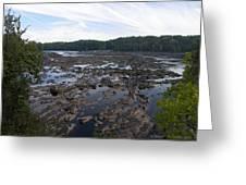Savannah River At Evans Greeting Card