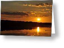 Savannah River Sunset Greeting Card