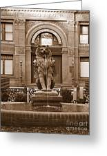 Savannah Sepia - Cotton Exchange Building Greeting Card