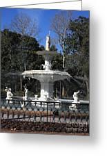 Savannah Square Fountain Greeting Card