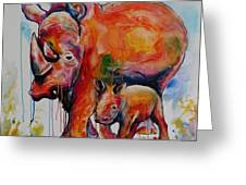 Save The Rhinos Greeting Card