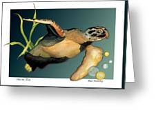 Save The Turtle Greeting Card