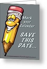 Save This Date Greeting Card
