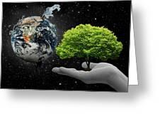 Save Tree Greeting Card