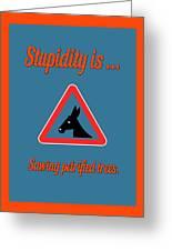 Sawing Bigstock Donkey 171252860 Greeting Card