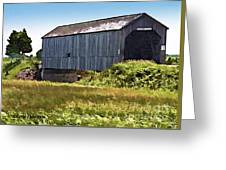 Sawmill Creek Covered Bridge Greeting Card