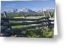 Sawtooth Range Greeting Card