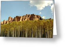 Sawtooths And Aspens Greeting Card