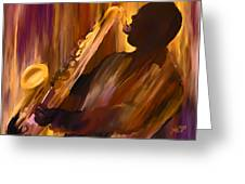 Sax And Soul Greeting Card