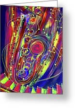 Sax Jazzed In Pink Greeting Card