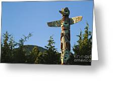 Saxman Totem Park Greeting Card by Greg Vaughn - Printscapes