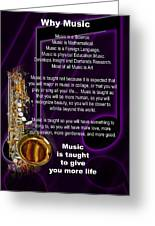 Saxophone Photographs Or Pictures For T-shirts Why Music 4819.02 Greeting Card