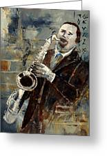 Saxplayer 570120 Greeting Card