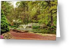 Sayen Gardens Bridge Series Greeting Card