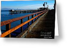 Sb Pier - The Golden Path Greeting Card