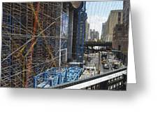 Scaffolding In The City Greeting Card