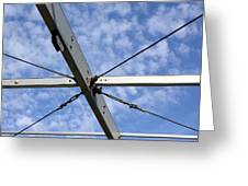 Scaffolding Sky View Greeting Card