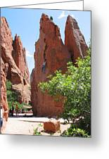 Scaling Red Rocks Greeting Card