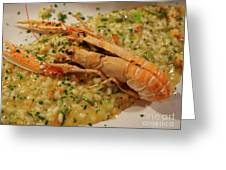Scampi Risotto Greeting Card