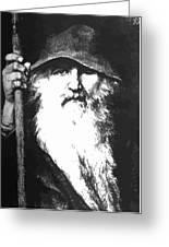 Scandinavian Mythology The Ancient God Odin Greeting Card