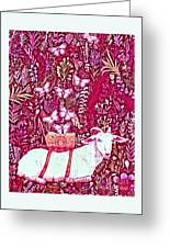Scapegoat Healing In Fuchsia Greeting Card