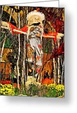 Scarecrow In Bellagio Conservtory In Las Vegas-nevada Greeting Card