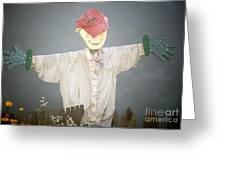 Scarecrow In Fog Greeting Card