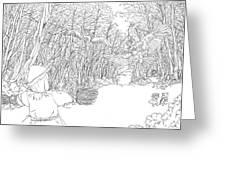 Scarecrow Manuvers Greeting Card