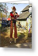 Scarecrow Walking On Stilts Greeting Card