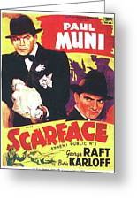 Scarface 1932 French Revival Unknown Date Greeting Card