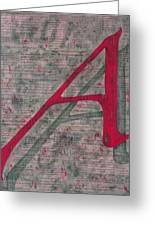 Scarlet Letter With Green Background Greeting Card