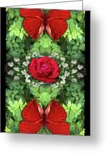 Scarlet Rose Greeting Card