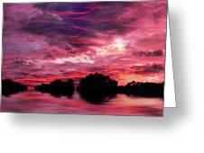 Scarlet Skies Greeting Card