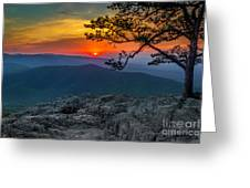 Scarlet Sky At Ravens Roost Greeting Card