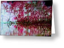 Scarlet Water Greeting Card