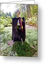Scarry Potter Scarecrow At Cheekwood Botanical Gardens Greeting Card